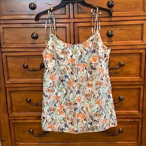Lucky Brand watercolor floral top